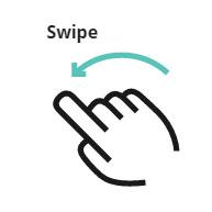 Swipe gesture