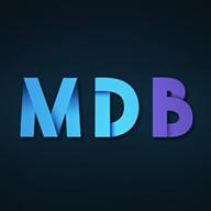 MDB logo with dark background