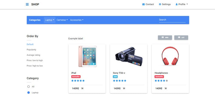 Category Pages