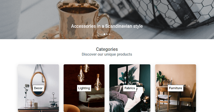 Example eCommerce Contact Page
