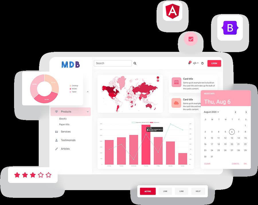 MDB 5 - Bootstrap 5 & Angular 11