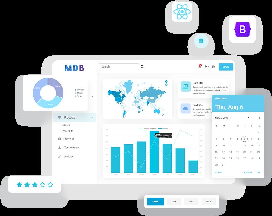 MDB 5 - Bootstrap 5 & React 17