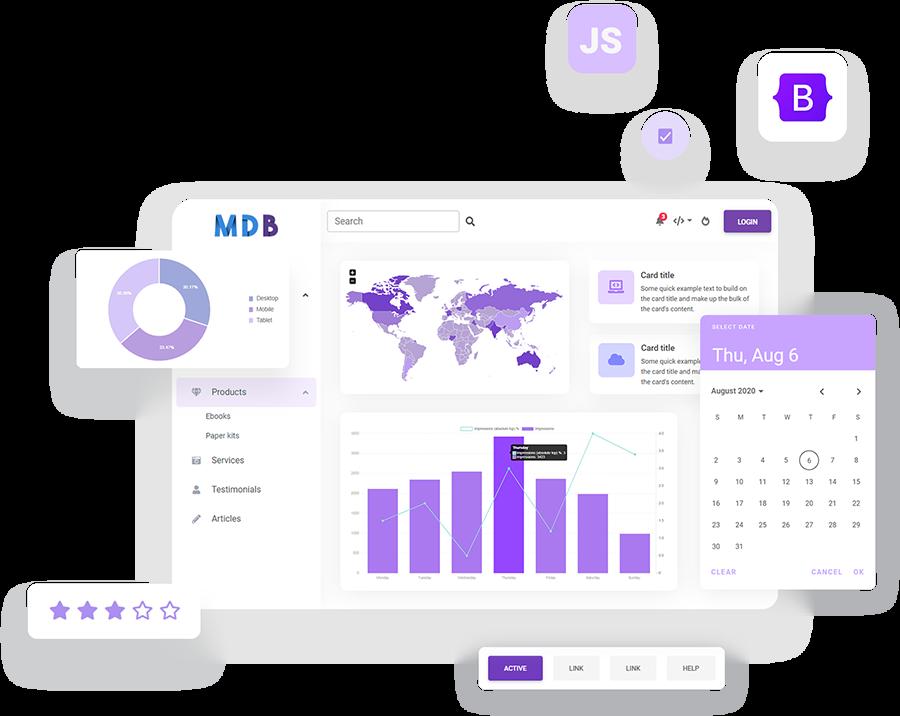 MDB 5 - Bootstrap 5 Material Design 2.0