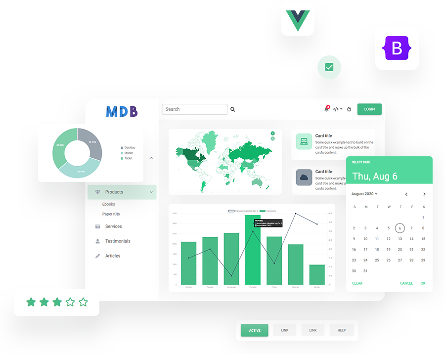 MDB 5 - Bootstrap 5 & Vue 3
