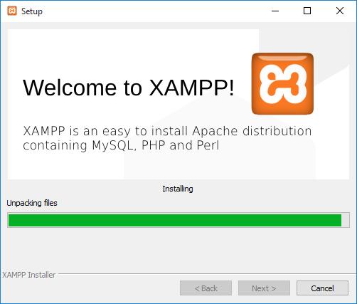 Windows XAMPP installer