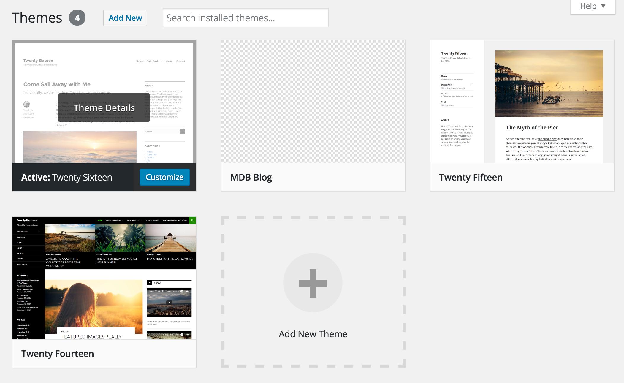 WordPress themes list