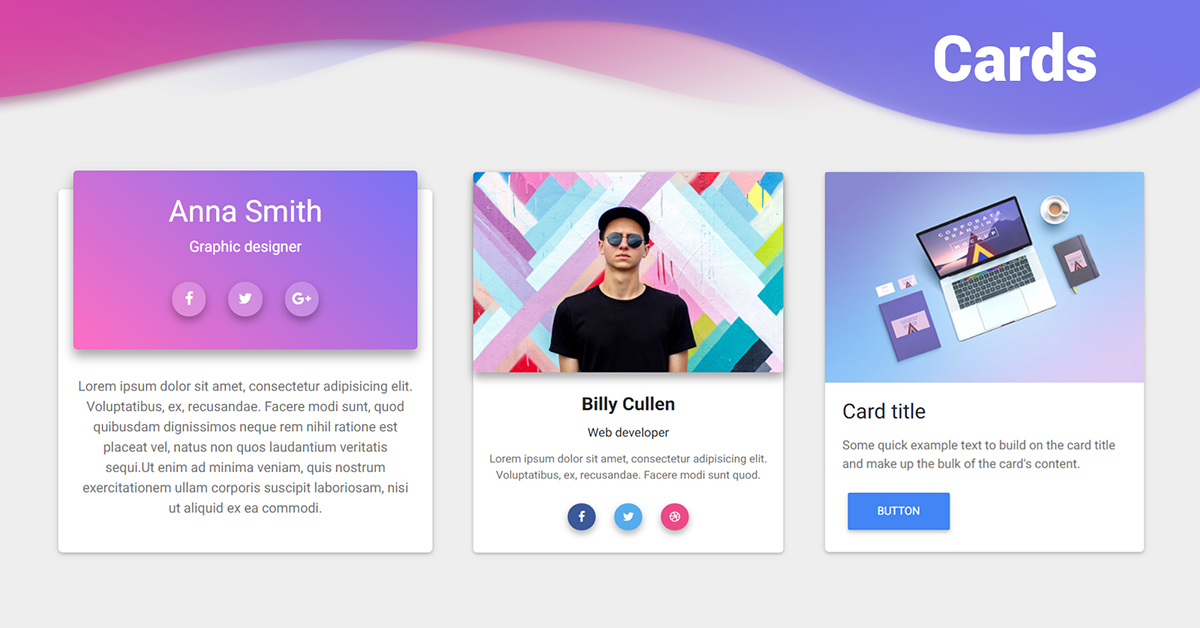 Angular Card Bootstrap 4 Material Design Examples Tutorial Material Design For Bootstrap
