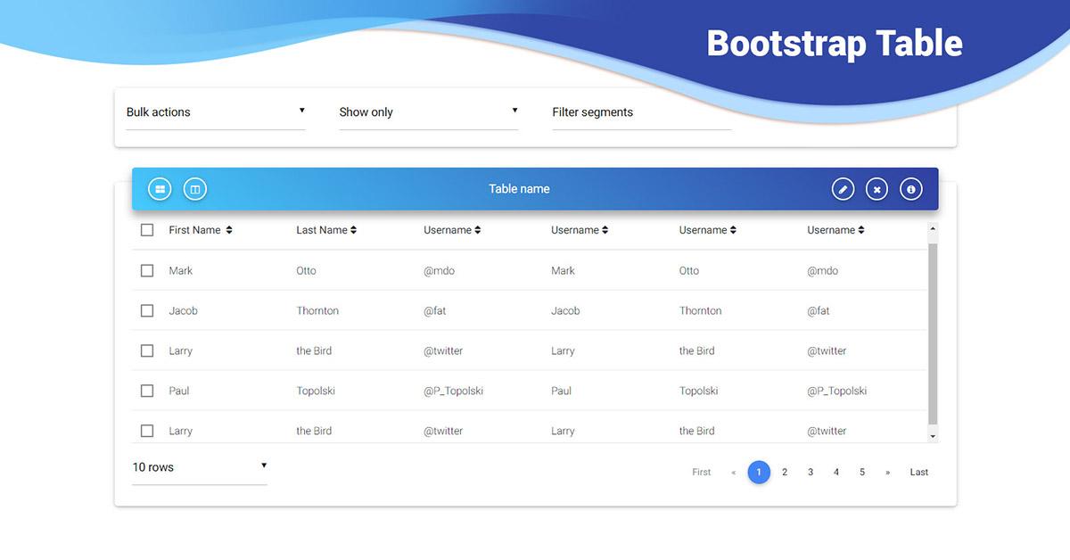 angular editable table  bootstrap 4  material design