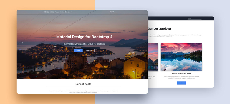 Full Page Video Carousel - Material Design for Bootstrap
