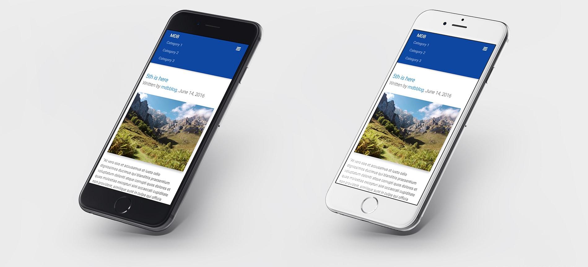 MDB website displayed on iPhones