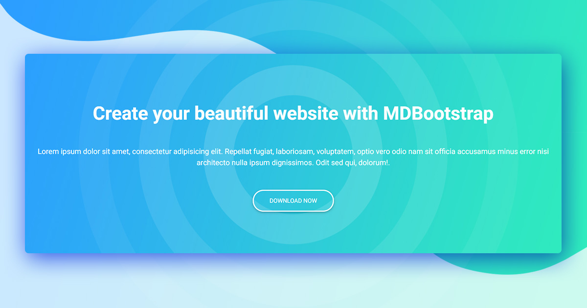 Bootstrap 4 Jumbotron Examples Tutorial Basic Advanced Usage Material Design For Bootstrap