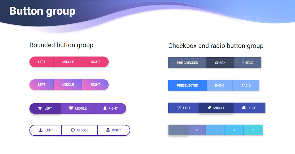bootstrap 4 button group  examples  tutorial basic