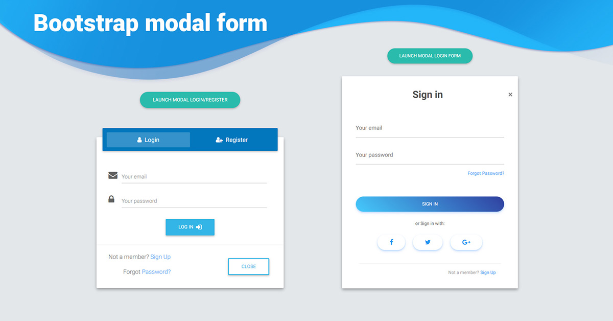 Bootstrap Modal Form Examples Tutorial Basic Advanced Usage