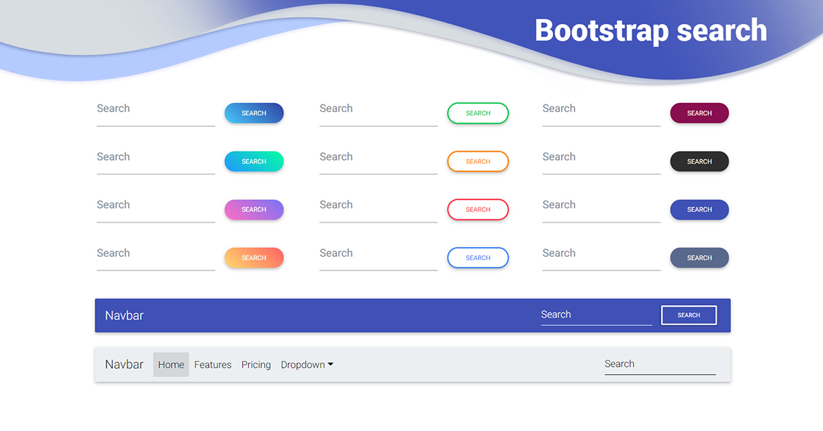 Bootstrap Search Examples Tutorial Basic Advanced Usage Material Design For Bootstrap