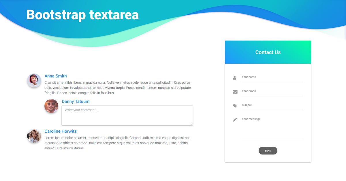 vue textarea  bootstrap 4  material design examples