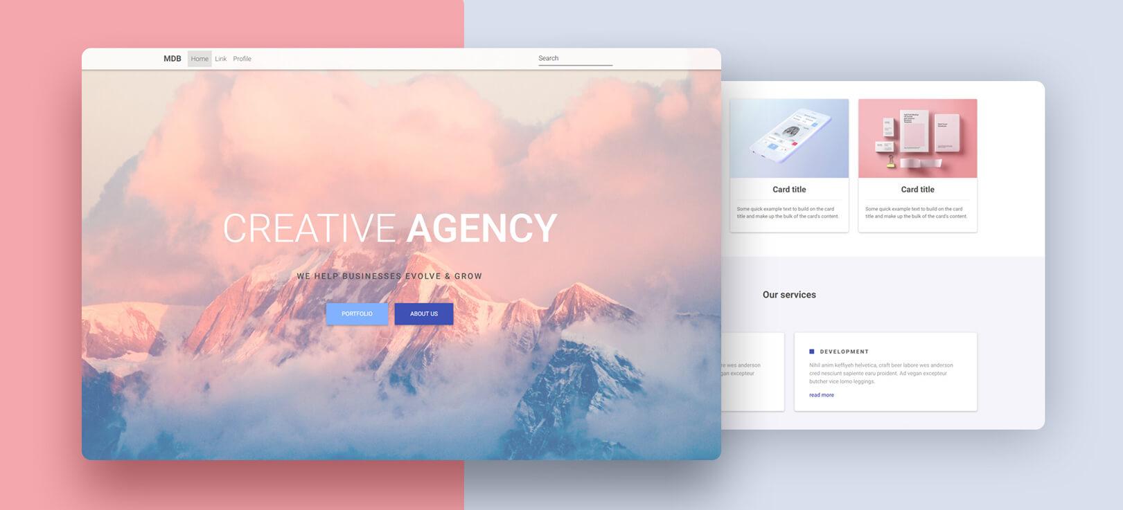 Portfolio Template - Bootstrap 4 & Material Design