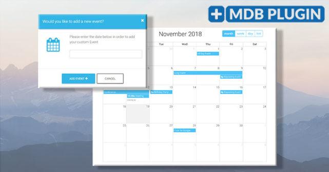 bootstrap plugin fullpage calendar jquery